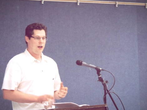 Alex Rieser, Foothill poetry reading, April 2013