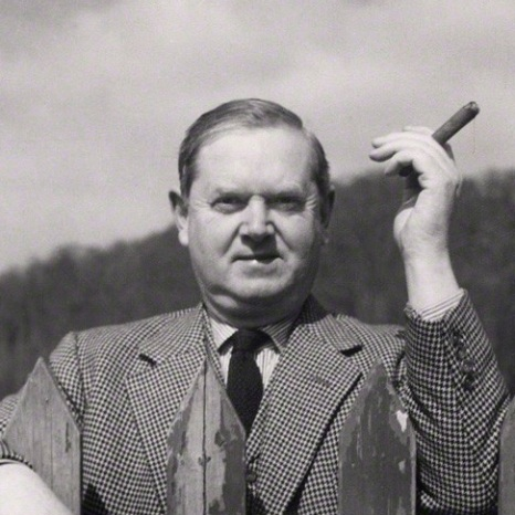 NPG x40396; Evelyn Waugh by Cecil Beaton